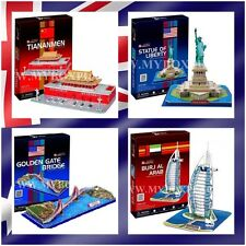 4 x Mixed Design Golden Gate Bridge Statue of Liberty BURJ AL ARAB DIY 3D Puzzle