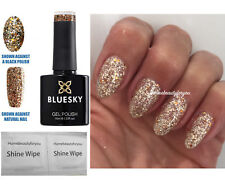 BLUESKY SP13 GOLD + SILVER GLITTER MIX SPARKLE NAIL GEL POLISH LED UV SOAK OFF