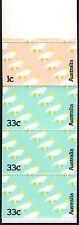 1985 AUSTRALIAN $1 COCKATOO STAMP BOOKLET 3 x 33c, 1 x 1c stamps MUH