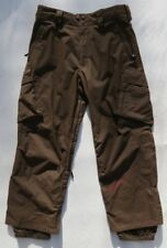 BURTON Men's Brown Waterproof Softshell Winter Ski Snowboard Cargo Pants size M