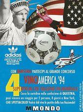X2901 Adidas - MONDO - Pallone QUESTRA - Pubblicità 1994 - Advertising