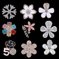 DIY Rhinestone Crystal Enamel Flowers for Cell Phone Back Case Cover Decor Craft