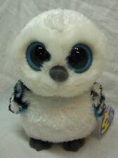 "Ty Beanie Boos Big Eyed Spells The Snowy Owl 5"" Plush Stuffed Animal Toy New"