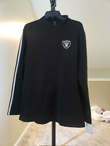 Oakland Raiders NFL Team Apparel Zip-Up Jacket Men's Large Black NWT