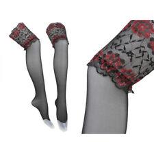 Halterlose Strümpfe Nylons Stocking Tights von Style Levante Schwarz - Gr. M/L