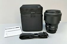 Sigma 85mm f/1.4 Dg Hsm Art Lens for Canon Ef - Mint in Box with All Accessories