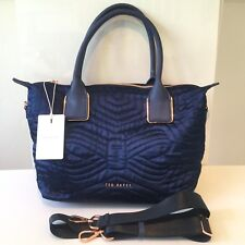 Ted Baker NEW Navy Fit To A T Akebia Small Tote Shoulder Hand Bag 143258 RRP £79