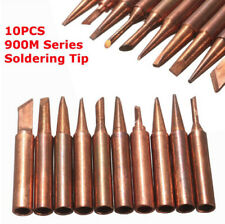 10pcs/Set 900M-T Soldering Tip Pure Copper Electric Iron Head Series Solder Tool