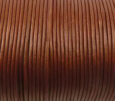 Imported India Leather Cord 2mm Round 5 Yards Metallic Red Bronze