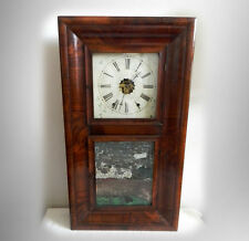 William Gilbert eight day clock in large rosewood frame - FREE SHIPPING