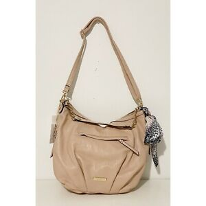 Jessica Simpson Lucille Powder Blush Faux Leather with Gold Chain Handbag