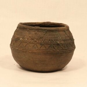 Antique Dhokra bowl from Orissa lost wax cast rice measure great ash tray