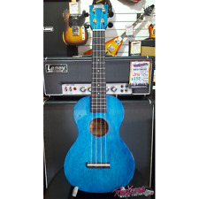 Mahalo Hano Series Concert Ukulele with Bag and Aquila Strings - Blue