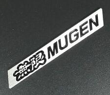 3D MUGEN Car Trunk Spoiler Lip Emblem Badge Sticker Decal Alumnium Black x1