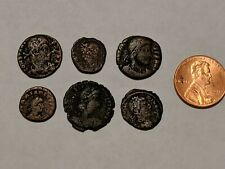 6 LOT ANCIENT COINS 200 - 400 AD
