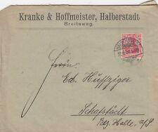 HALBERSTADT, Briefumschlag 1907, Kranke & Hoffmeister