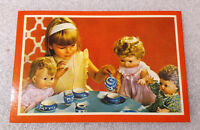 Rare Vintage Antique ✱ LITTLE CHILD with DOLLS POSTCARD ✱ Made in Portugal 70´