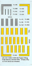 US-143 - Rayas F-86 de Estados Unidos - 1/285 Calcomanías