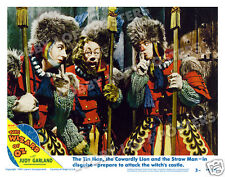 THE WIZARD OF OZ LOBBY SCENE CARD # 3 POSTER 1949-R TIN MAN SCARECROW LION