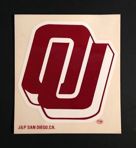 University Of Oklahoma Sooners VTG Window Travel Decal NCAA Football Memorabilia