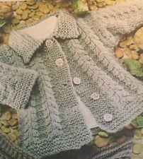 DK Knitting Pattern Babies Toddler Cardigan Jacket  Size 2/10 Years