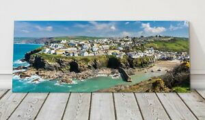 Port Isaac panoramic canvas print Cornwall framed picture Doc Martin