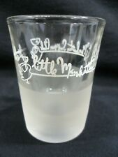 George Hubbard's The Little Manhattan Supper Club Shot Cocktail Glass Vintage