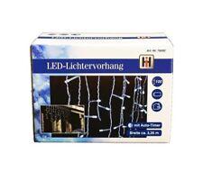 HAAC 100er LED Lichtervorhang Eiszapfen Eisregenkette Lichterkette 335 cm weiß