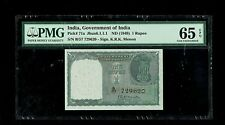 Republic India | 1 Rupee | 1st Issue,Menon | 1949 | P#71a | Pmg-65