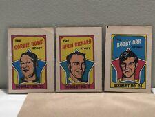 1971-72 O PEE CHEE BOOKLETS GORDIE HOWE, HENRI RICHARD, BOBBY ORR (YOU PICK)