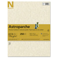 Neenah Paper Astroparche Specialty Card Stock 65 lbs. 8-1/2 x 11 Natural 250