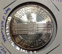 AUSTRIA 1972 SILVER 50 SCHILLINGS BRILLIANT UNCIRCULATED COIN
