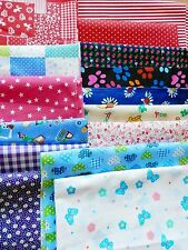 40 X Patchwork Bundle Fabric Polycotton Scraps Joblot Mixed Craft Bunting