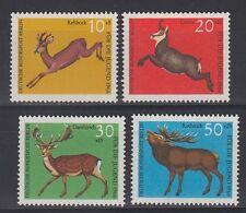 Germany Berlin 1965 ** mi.291/94 ANIMALI ANIMALS CACCIA HUNTING altamente selvaggina   BIG GAME