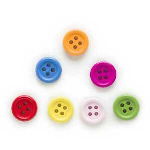 100pcs Color Round Wood Buttons Sewing Scrapbooking Home Cloth Craft Decor 15mm