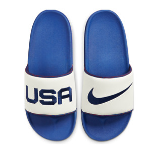 Mens Nike OffCourt Slides USA SE Blue White Red DA2586 100 Sandals Off Court