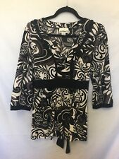 Millers size 14 black grey and white top