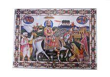 "Ramdev Pir Sanput  Aluminium Hindu God Photo Frame Traditional Hanging 8""x11"""
