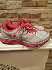 Nike Lunarlon Grey, pink, silver Ladies Trainers Size Uk 5. 5