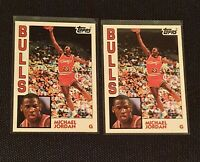 1993 Topps 1984 Archives Michael Jordan Rookie RC Retro #52 Chicago Bulls lot x2