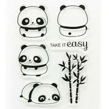 Cartoon Panda Metal Cutting Dies Clear Stamps Embossing Diary Album Craft Decor