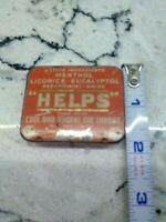 Vintage Helps Sore Throat Medicine Tin Menthol Licorice Eucalyptol