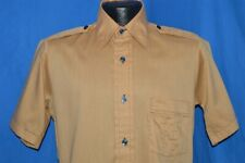 vintage 70s Bread The Earth Shirt Big Collar Brown 1970s Red Facing Small S