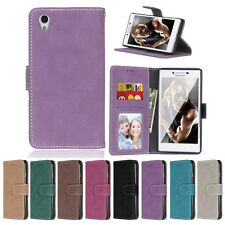 Retro Frosted Wallet Leather Skin Flip Case Cover For Lenovo Vibe P1 P1M X2 X3