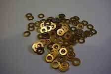 M3 BRASS WASHERS SOLID BRASS (3mm WASHERS 50-PACK)