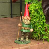 "Sunnydaze Woody Jr the Gnome Statue - Outdoor Lawn and Garden Decor - 13.5"""