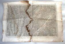 ANCIENNE CARTE ETAT MAJOR / PLAN DE AUCH ET SES ENVIRONS 1859