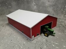 1/64 farm Custom scratch 60 x 80 building white  roof red sides