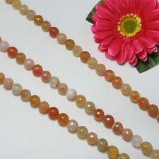 1 Fil Agate 12mm Ronde Facettes . Perles