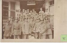 Soldats allemands devant cantine  guerre 14-18 photo sur CPA lot 42